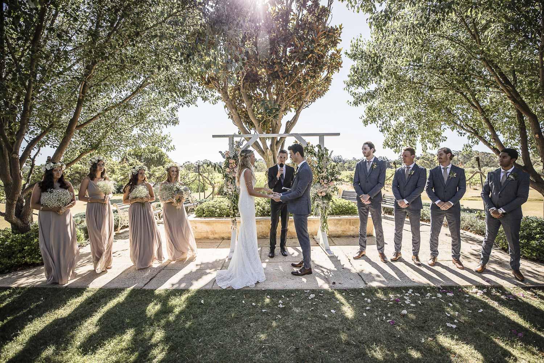 Barrett Lane wedding ceremony